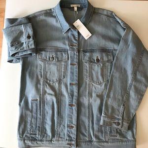 Eileen Fisher Organic Cotton Stretch Denim Jacket